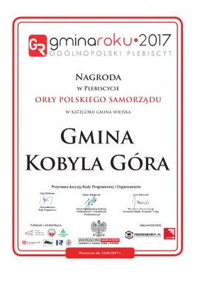 Gmina Kobyla Góra - Gminą Roku 2017